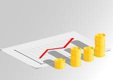 Diagramma di crescita di affari Immagini Stock
