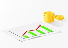 Diagramma di crescita di affari Fotografia Stock