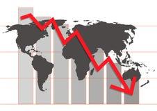 Diagramma di crisi di mondo Fotografie Stock Libere da Diritti