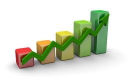 Diagramma di finanze di affari, schema, barra, grafico Fotografie Stock