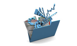 Diagramma di finanze di affari, schema, barra, grafico Immagini Stock Libere da Diritti