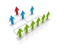Diagramma di flusso con la gente Immagine Stock
