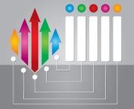 Diagramma di flusso con le frecce Immagine Stock