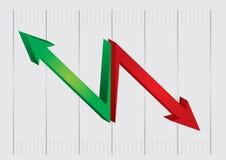 Diagramma di flusso con le frecce Fotografia Stock Libera da Diritti