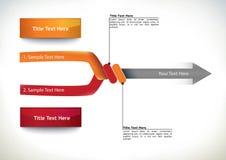 Diagramma di flusso di presentazione con la freccia Fotografia Stock