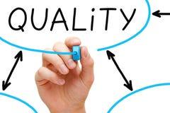 Indicatore del blu del diagramma di flusso di qualità fotografia stock libera da diritti