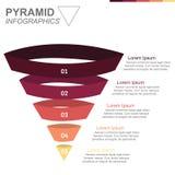 Diagramma di grafico stratificato della piramide Fotografie Stock