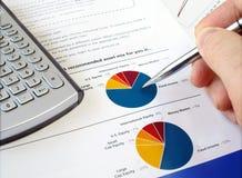 Diagramma di investimento del grafico a torta Fotografia Stock
