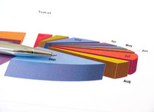 Diagramma di investimento del grafico a torta. Immagini Stock
