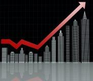 Diagramma di investimento di bene immobile Fotografie Stock Libere da Diritti