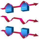 Diagramma di navigazione dei blocchi stradali Fotografie Stock Libere da Diritti