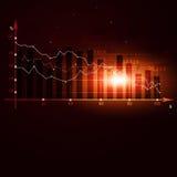 Diagramma di riserva di crisi di finanza Fotografie Stock