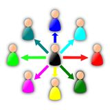 Diagramma di riunione Immagini Stock Libere da Diritti