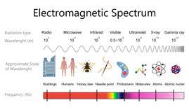 Diagramma di spettro elettromagnetico illustrazione di stock