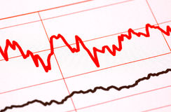 Diagramma di stile di EKG Fotografia Stock Libera da Diritti