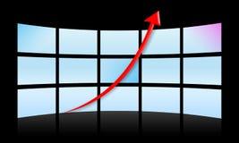 Diagramma di successo (concetto di affari) Fotografie Stock Libere da Diritti