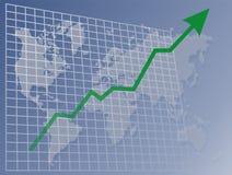 Diagramma di upawards del mondo illustrazione di stock