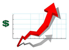 Diagramma di vendite Fotografia Stock Libera da Diritti