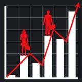Diagramma e la gente di affari Fotografia Stock