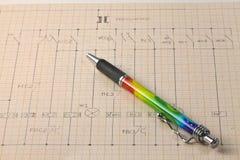 Diagramma elettrico Immagini Stock
