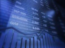 Diagramma finanziario astratto Fotografia Stock Libera da Diritti