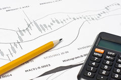 Diagramma finanziario di affari Fotografia Stock Libera da Diritti
