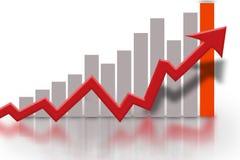 Diagramma finanziario di grafico a strisce Fotografie Stock