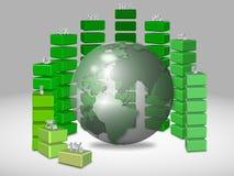 Diagramma globale illustrazione di stock