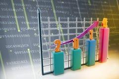 Diagramma grafico 2014 Immagini Stock