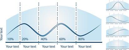 Diagramma infographic di vettore, grafici dell'attività Fotografie Stock Libere da Diritti