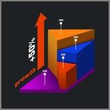 Diagramma isometrico di colore, grafico di informazioni royalty illustrazione gratis