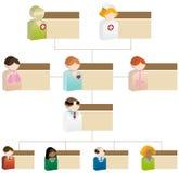Diagramma organizzativo di diversità - sanità 3D Immagine Stock