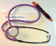 Diagramma paziente Fotografia Stock