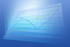 Diagramma positivo di tendenza di affari Immagine Stock