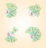 Diagramma Può essere usato per il infographics, elementi dei siti Web, presen illustrazione di stock