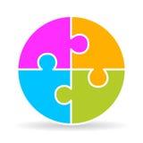 Diagramma a quattro parti di puzzle Fotografie Stock Libere da Diritti