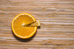 Diagramma a torta del limone e dell'arancia Fotografia Stock