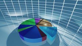 Diagramma a torta di affari per il concetto economico Fotografia Stock