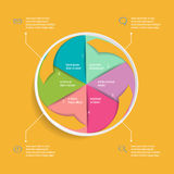 Diagramma a torta infographic Fotografia Stock