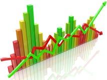 Diagramma variopinto Immagine Stock