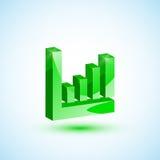 Diagramma verde Fotografia Stock