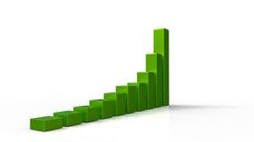 diagramma verde 3D Immagini Stock