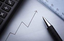 Diagrammdiagramm für Finanzgeschäft Stockfoto
