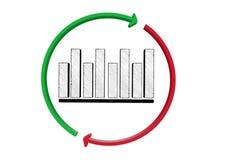 Diagrammdiagramm-Zeichenikone Diagrammsymbol lizenzfreie abbildung