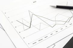 Diagrammdokumentennahaufnahme Lizenzfreie Stockfotos