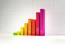 Diagramme à barres abstrait coloré Photographie stock