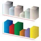 Diagramme 3D abstrait Images libres de droits