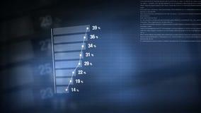 Diagramme animé de barre analogique d'histogramme d'Infographics illustration de vecteur