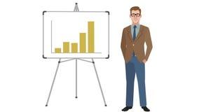 Diagramme animé de With Increasing Bar de directeur banque de vidéos