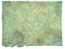 Diagramme antique 1910 de mer Photos stock